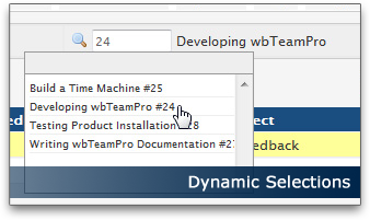 Dynamic Selections | wbTeamPro Project Management for WHMCS