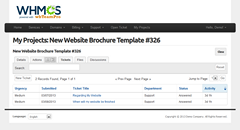 wbTeamPro Client Default Ticket List View